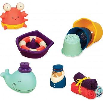 Zestaw prezentowy dla niemowląt - NIEBIESKI - do kąpieli