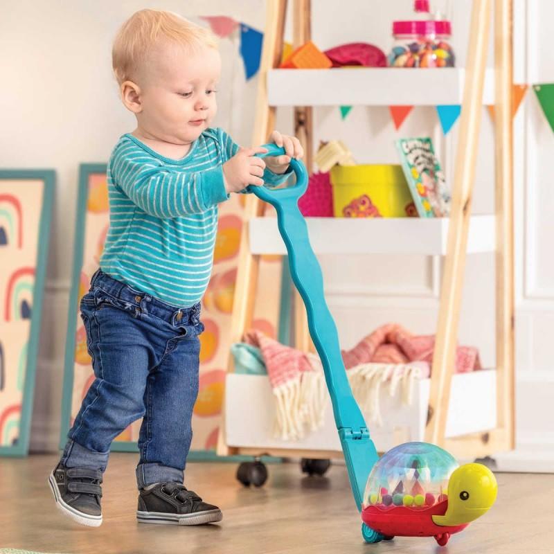 B.Toys Świecący żółw-pchacz z kuleczkami Walk 'n' Pop! +12mc