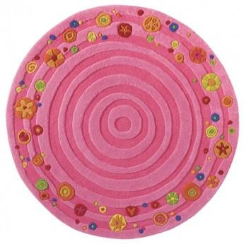 Haba Dywan różowy wełniany dla dziewczynki Rosalina 120cm