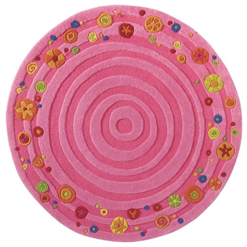 Haba Dywan różowy dla dziewczynki Rosalina średn.120cm