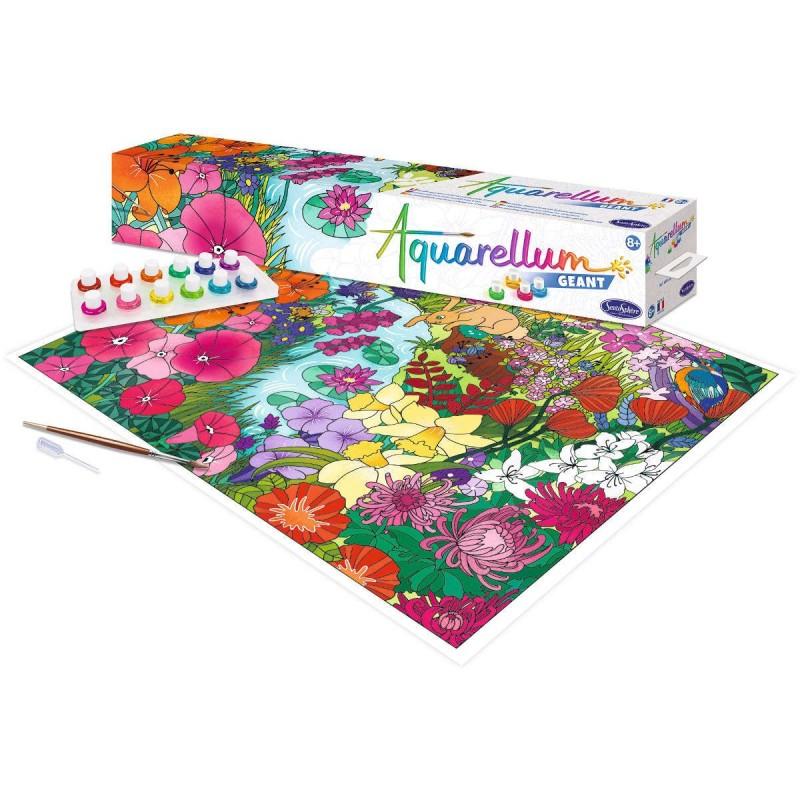 Aquarellum Angielski Ogród plakat do malowania i farby, SentoSphere