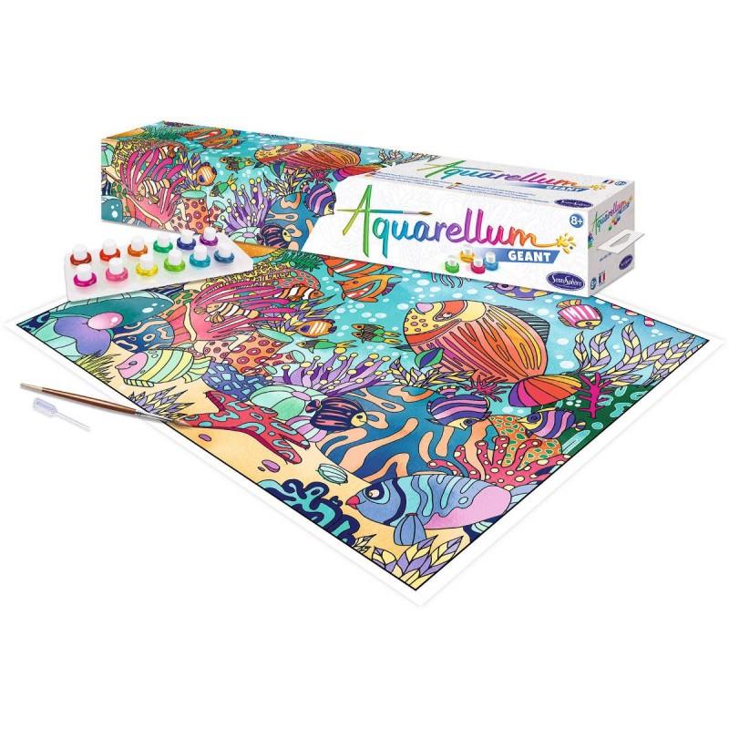 Aquarellum W głębinach Oceanu plakat do malowania i farby, SentoSphere