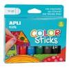 Farby w kredce 6 kolorów, Apli Kids