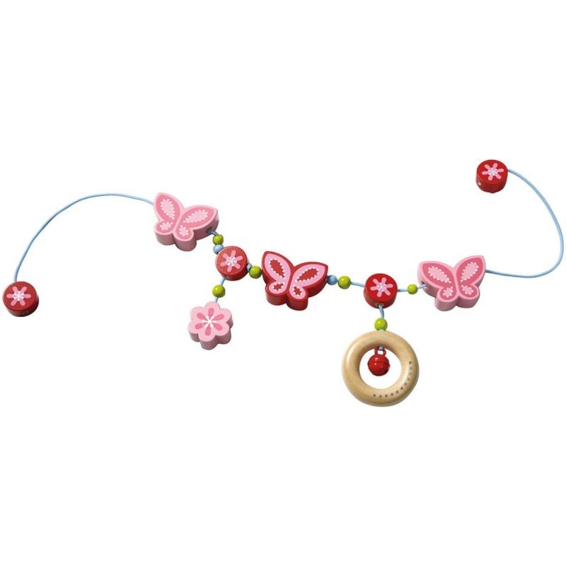 Haba Łańcuszek do wózka Motyle i Kwiaty dla niemowląt