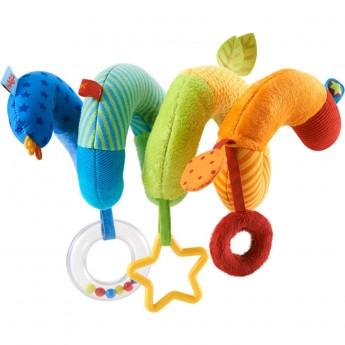 Haba Kolorowa spirala do łóżeczka i do wózka dla niemowląt