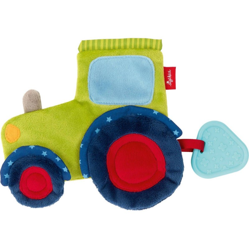 Sigikid Kocyk przytulanka sensoryczna dla niemowląt Traktorek