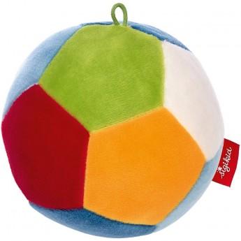 Sigikid Piłka pluszowa niebiesko-czerwona dla niemowląt