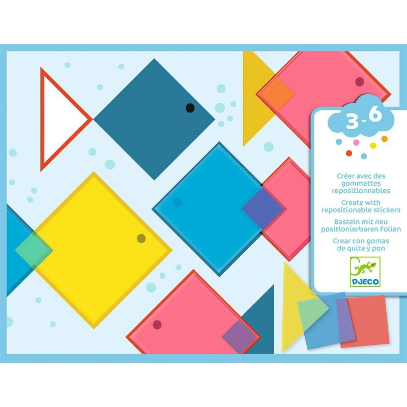 Djeco zestaw kreatywny kolaż Magiczne Kwadraty