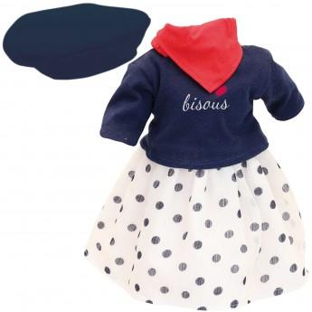 Montmartre sukienka dla lalek 40cm, Petitcollin