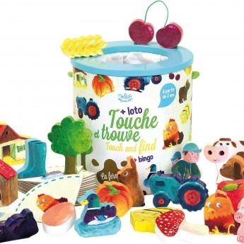 Vilac Rozpoznawanie przez Dotyk Farma gra sensoryczna dla 2-latka
