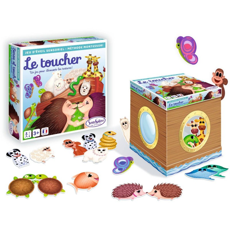 "SentoSphere Gra sensoryczna ""Dotyk"" wg metody Montessori"
