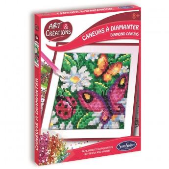 Zestaw kreatywny obraz z diamentami Motyle dla dzieci +8, SentoSphere