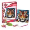 Zestaw kreatywny obraz z diamentami Tygrys dla dzieci +8, SentoSphere