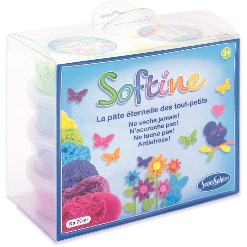 Masa plastyczna jedwabista Softine 8 kolorów, SentoSphere