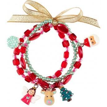 Świąteczne bransoletki dla dzieci Lenka czerwono-zielone, Souza!