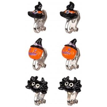 Klipsy na kolczyki na Halloween 3 pary dla dzieci, Souza!