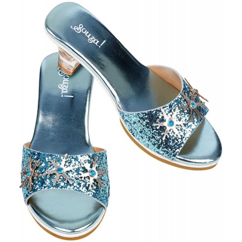 Buty na obcasie dla dzieci 30-31 Ice Queen niebieskie metaliczne, Souza!