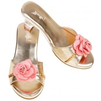 Buty na obcasie dla dzieci 27-28 Lorianne złote z różą, Souza!