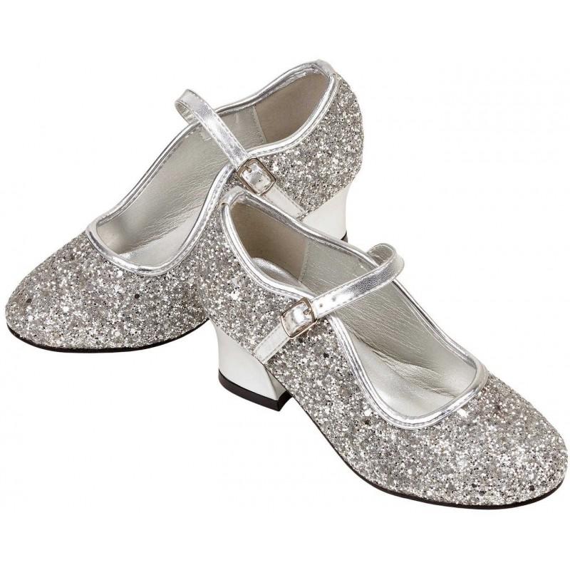 Buty na obcasie dla dzieci Marguerita srebrne rozm. 31, Souza!