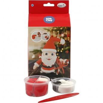 Święty Mikołaj z masy Silk Clay od 3 lat, Creativ Company