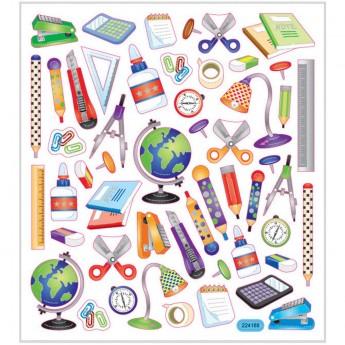 Przybory Szkolne naklejki ozdobne dla dzieci, Creativ Company