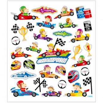 Wyścigówki naklejki ozdobne dla dzieci, Creativ Company