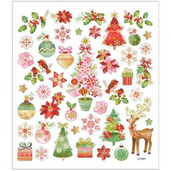 Romantyczne Święta naklejki ozdobne dla dzieci, Creativ Company
