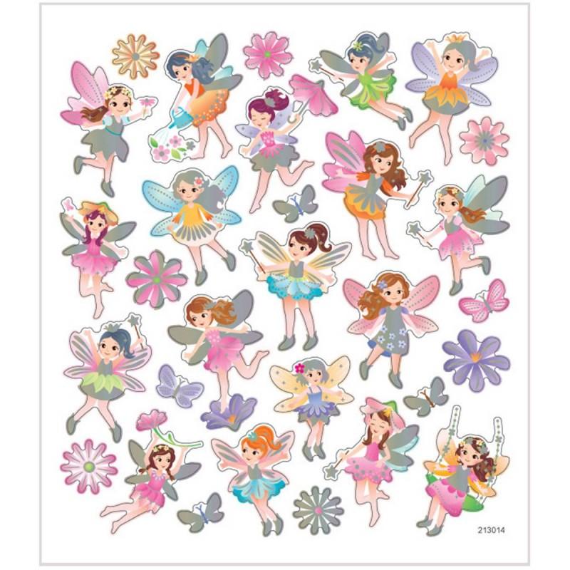 Kwiatowe Wróżki ozdobne naklejki dla dzieci +3, Creativ Company