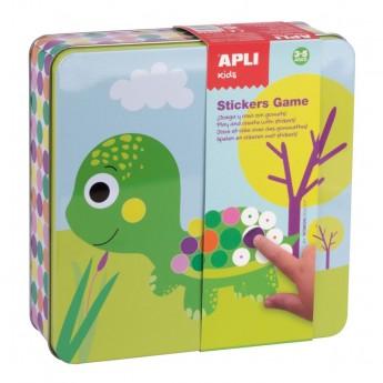 Zestaw kreatywny z naklejkami Zwierzęta, Apli Kids
