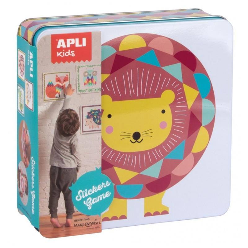 Zestaw kreatywny z naklejkami Lew, Apli Kids