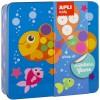 Zestaw kreatywny z naklejkami Ocean, Apli Kids
