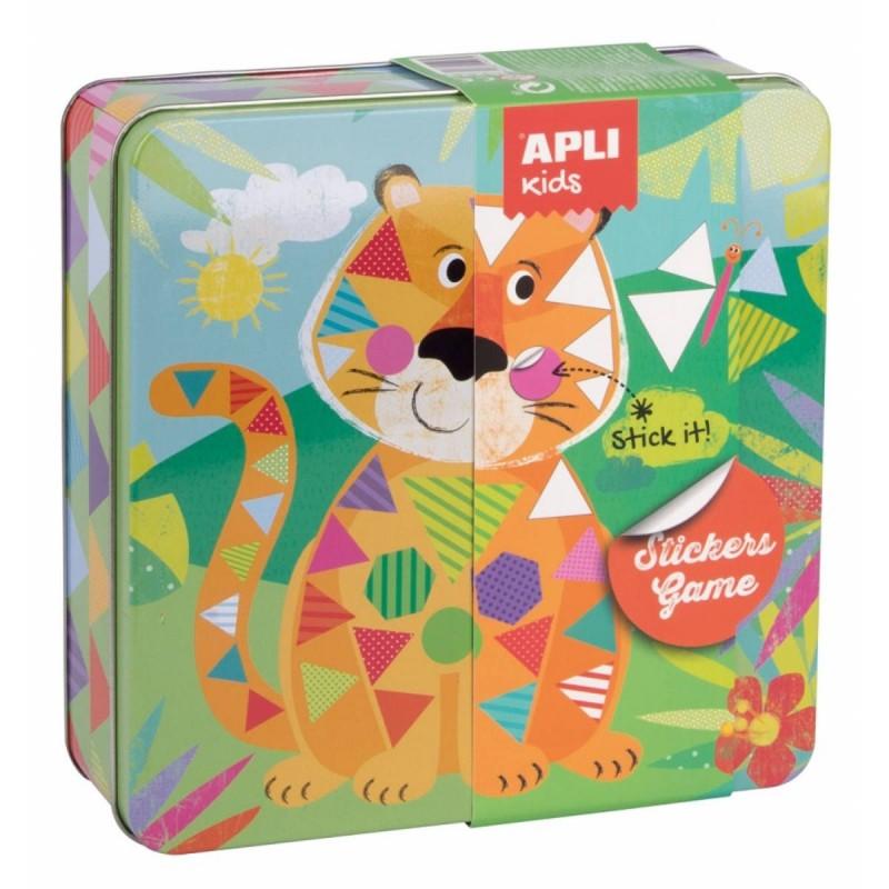 Zestaw kreatywny z naklejkami Tygrys, Apli Kids