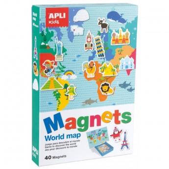 Mapa Świata magnetyczna układanka, Apli Kids