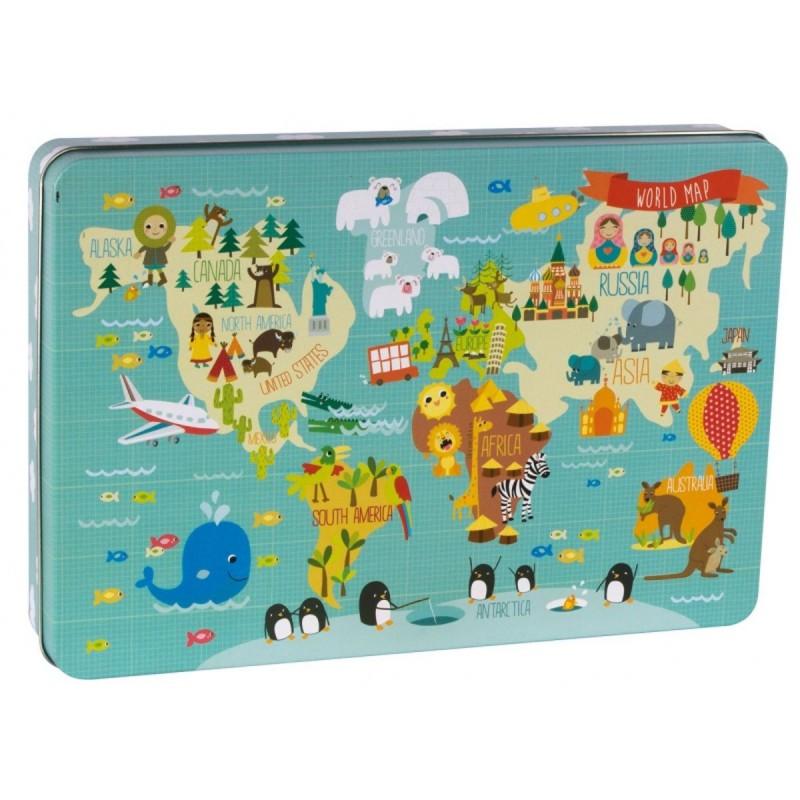 Mapa Świata puzzle XL, Apli Kids