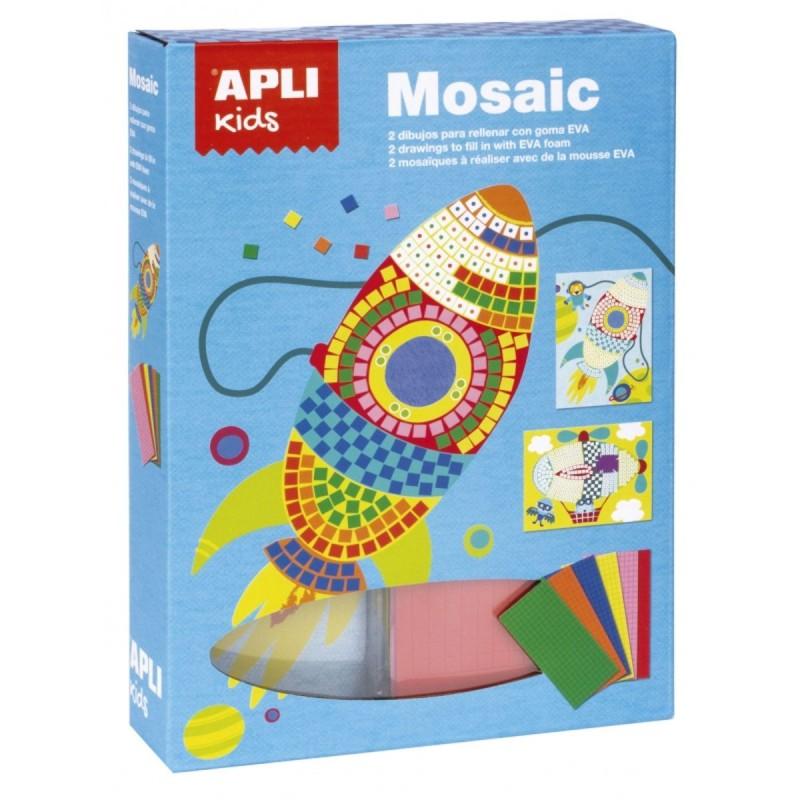 Zestaw artystyczny mozaika Transport, Apli Kids