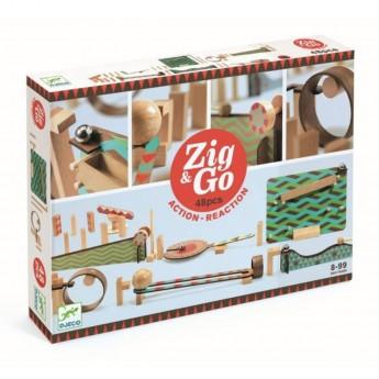 Djeco Zestaw Zig & Go 48 elementów zabawka edukacyjna