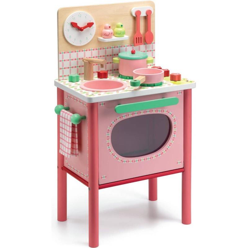 Djeco Drewniana kuchenka różowa DJ06504