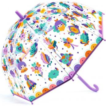 Parasol przeciwdeszczowy dla dzieci Tęcza przezroczysty
