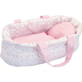 Koszyczek dla lalek 28 cm różowy, Petitcollin