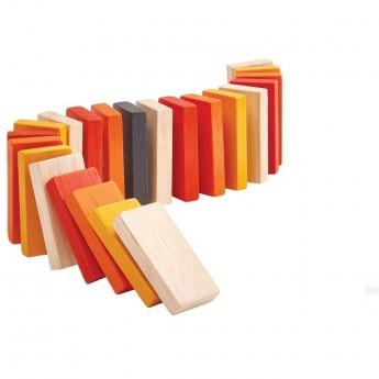 Plan Toys Mini gra drewniana Układanie Domino +3