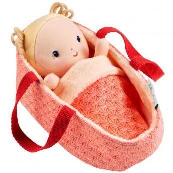 Lilliputiens Lalka dzidziuś w koszyczku z ubrankiem i kocykiem Anais 12 m+
