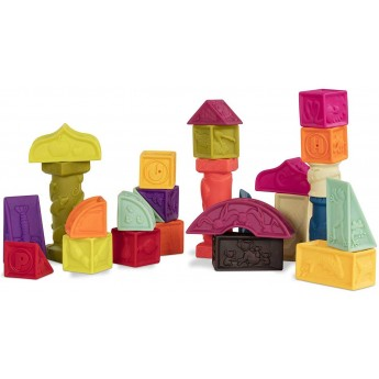B.Toys Klocki miękkie duży zestaw Elemenosqueeze