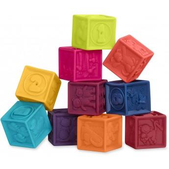 B.Toys Klocki miękkie dla niemowląt One Two Squeeze