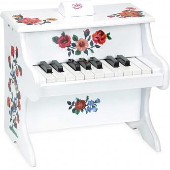Vilac pianino białe drewniane zabawka dla dzieci Nathalie Lete