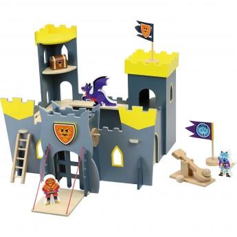 Duży drewniany zamek do zabawy Vilac