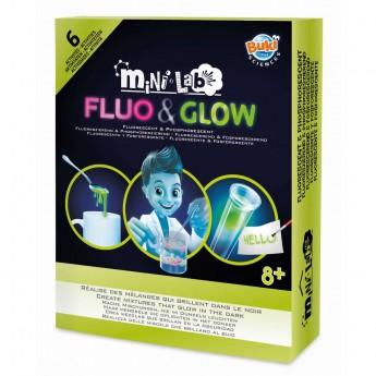 Buki Mini Lab 6 eksperymentów w ciemności Fluo & Glow +8