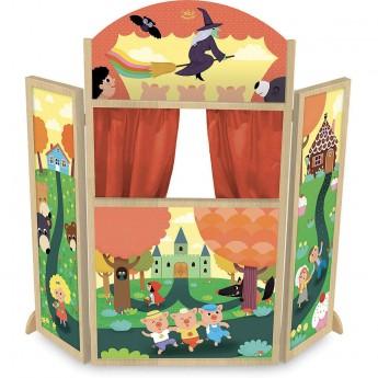 Vilac duży teatrzyk drewniany stojący Baśnie dla dzieci +3