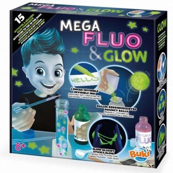 Buki Zestaw eksperymentów w ciemności Mega Fluo & Glow +8