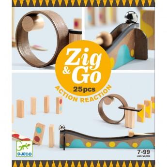Djeco Zestaw Zig & Go 25 elementów zabawka edukacyjna