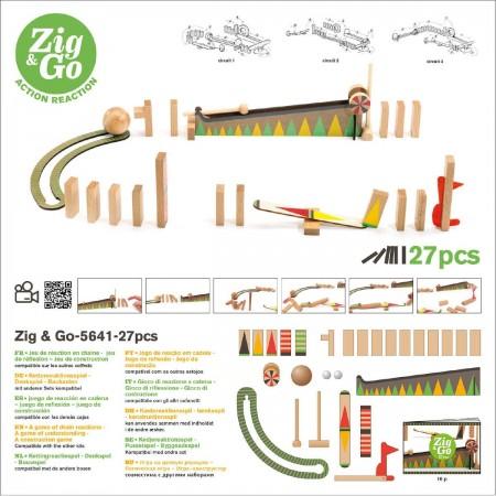Djeco Zestaw Zig & Go 27 elementów zabawka edukacyjna